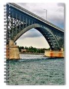 008 Stormy Skies Peace Bridge Series Spiral Notebook