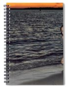 009 A Sunset With Eyes That Smile Soothing Sounds Of Waves For Miles Portrait Series Spiral Notebook