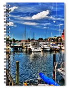 009 On A Summers Day  Erie Basin Marina Summer Series Spiral Notebook