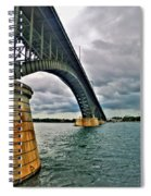009 Stormy Skies Peace Bridge Series Spiral Notebook