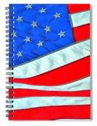 01 American Flag Spiral Notebook