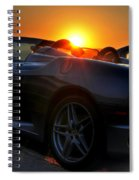 01 Ferrari Sunset Spiral Notebook