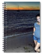 010 A Sunset With Eyes That Smile Soothing Sounds Of Waves For Miles Portrait Series Spiral Notebook