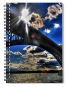 010  Peace Bridge Series II Beautiful Skies Spiral Notebook