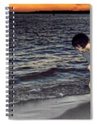 011 A Sunset With Eyes That Smile Soothing Sounds Of Waves For Miles Portrait Series Spiral Notebook