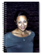 012 A Sunset With Eyes That Smile Soothing Sounds Of Waves For Miles Portrait Series Spiral Notebook