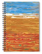 0145 Abstract Landscape Spiral Notebook