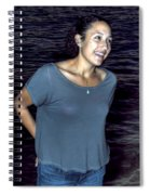 015 A Sunset With Eyes That Smile Soothing Sounds Of Waves For Miles Portrait Series Spiral Notebook