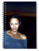 016 A Sunset With Eyes That Smile Soothing Sounds Of Waves For Miles Portrait Series Spiral Notebook