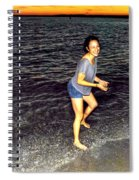 017 A Sunset With Eyes That Smile Soothing Sounds Of Waves For Miles Portrait Series Spiral Notebook