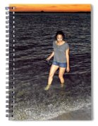018 A Sunset With Eyes That Smile Soothing Sounds Of Waves For Miles Portrait Series Spiral Notebook