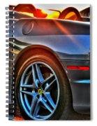 02 Ferrari Sunset Spiral Notebook