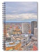 037 Series Of Buffalo Ny Via Birds Eye Downtown Buffalo Spiral Notebook
