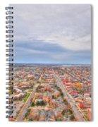 040 Series Of Buffalo Ny Via Birds Eye West Side  Spiral Notebook