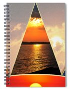 0a Relaxing Sunsets Collage Spiral Notebook