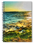 00013 Windy Waves Sunset Rays Spiral Notebook