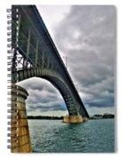009 Stormy Skies Peace Bridge Series Spiral Notebook