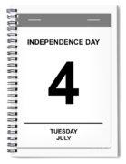 4th July Spiral Notebook