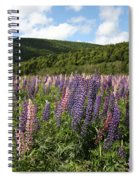 A Field Of Lupins Spiral Notebook