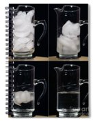 A Pitcher Of Ice Melts Over 4 Hours Spiral Notebook