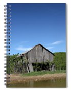 Abandoned Old Farm Building With Blue Sky Spiral Notebook