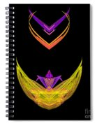 Abstract Fifty-five Spiral Notebook