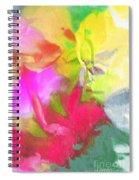 Abstract Garden Impressions Spiral Notebook