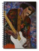 Abstract Jimi Hendrix Spiral Notebook
