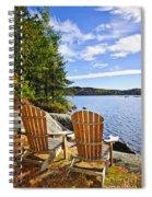 Adirondack Chairs At Lake Shore Spiral Notebook