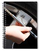 Air Pressure Gauge Spiral Notebook