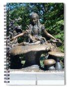 Alice In Wonderland In Central Park Spiral Notebook