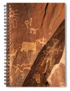 Ancient Indian Petroglyphs Spiral Notebook