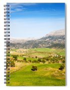 Andalusia Landscape In Spain Spiral Notebook