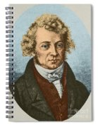 Andre Marie Amp�re, French Physicist Spiral Notebook