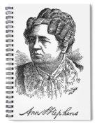Ann Sophia Stephens Spiral Notebook