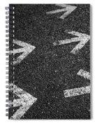 Arrows On Asphalt Spiral Notebook