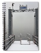 Ascona With Snow Spiral Notebook