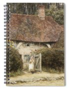 At The Cottage Gate Spiral Notebook