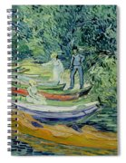 Bank Of The Oise At Auvers Spiral Notebook