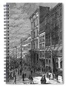 Bank Panic, 1873 Spiral Notebook