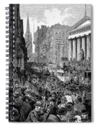 Bank Panic, 1884 Spiral Notebook