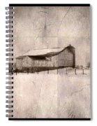 Barn In Snow Spiral Notebook