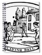 Baseball Game, 1820 Spiral Notebook
