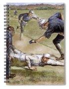 Baseball Game, 1885 Spiral Notebook