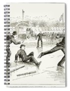 Baseball On Ice, 1884 Spiral Notebook
