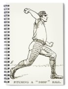 Baseball Pitching, 1889 Spiral Notebook
