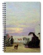 Beach Scene Spiral Notebook