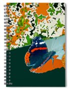 Beautiful Butterfly On Gold Spiral Notebook