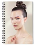 Beautiful Young Woman Portrait Spiral Notebook