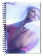 Beauty Photo Of A Woman In Shining Blue Settings Spiral Notebook